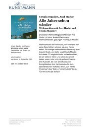 Alle Jahre schon wieder - Verlag Antje Kunstmann