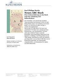 Karl Philipp Moritz Neues ABC-Buch - Verlag Antje Kunstmann