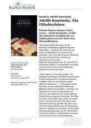 Adolfo Kaminsky. Ein Fälscherleben - Verlag Antje Kunstmann