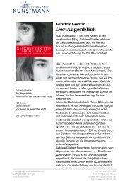 Der Augenblick - Verlag Antje Kunstmann