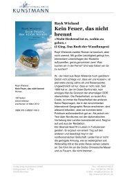 Rayk Wieland Kein Feuer, das nicht brennt - Verlag Antje Kunstmann