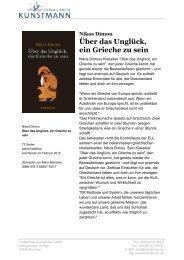Über das Unglück, ein Grieche zu sein - Verlag Antje Kunstmann