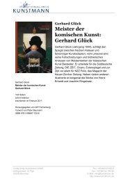 Meister der komischen Kunst - Verlag Antje Kunstmann