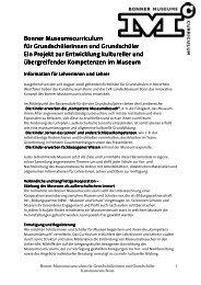 Bonner Museumscurriculum - Kunstmuseum Bonn