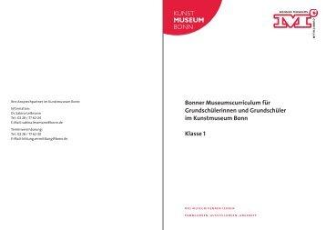 Bonner Museumscurriculum für Grundschülerinnen und ...
