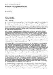 Download Pressetext - Kunstmuseum Basel