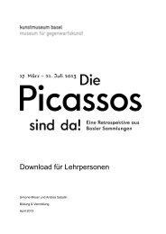 Die Picassos sind da - Kunstmuseum Basel