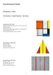 Bildlegenden / Credits Piet Mondrian - Barnett Newman - Dan Flavin