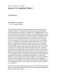 Pressetext Daniel Richter - Kunstmuseum Basel