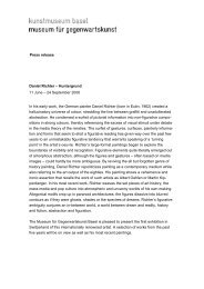 Press release Daniel Richter - Kunstmuseum Basel