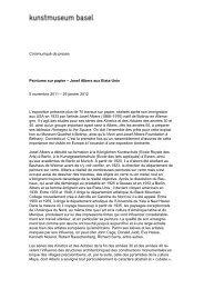 Communiqué de presse Peintures sur papier – Josef Albers aux ...