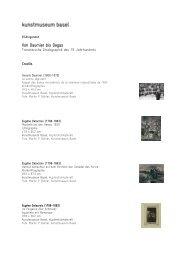 Bildlegenden Von Daumier bis Degas - Kunstmuseum Basel