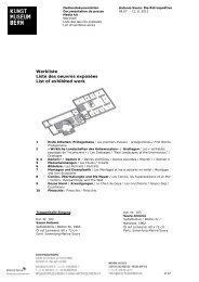 Download Werkliste Antonio Saura (pdf) - Kunstmuseum Bern