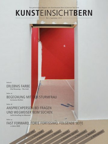 Download Magazin KunstEINSICHTBern No. 3(pdf) - Kunstmuseum ...