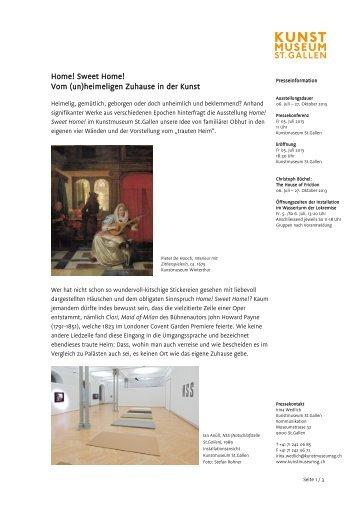 Mediendokumentation - Kunstmuseum St.Gallen