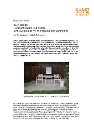 Karin Sander Mediendoku - Kunstmuseum St.Gallen