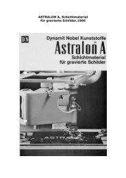 ASTRALON A für gravierte Schilder, 1966 - Kunststoff Museum ...