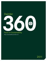 Daimler Sustainability Report 2011