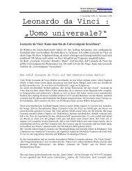 "Leonardo da Vinci : ""Uomo universale?"" - Kunst und Kunstunterricht"