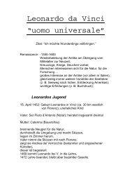 "Leonardo da Vinci ""uomo universale"" - Kunst und Kunstunterricht"