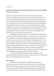 1 Schnittstelle Wort/Bild - Kunst und Kunstunterricht