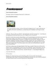 Frankenpost, 2. November 2009 - Kunstverein Kulmbach