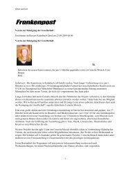 Frankenpost, 23. September 2009 - Kunstverein Kulmbach