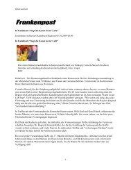 Frankenpost, 5. Oktober 2009 - Kunstverein Kulmbach