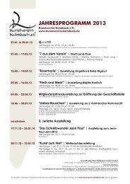 Jahresprogramm 2013 als .pdf - Kunstverein Kulmbach