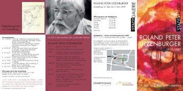 Roland Peter Litzenburger - Kunstverein Markdorf