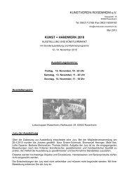 KUNSTVEREIN ROSENHEIM e.V. KUNST + HANDWERK 2010