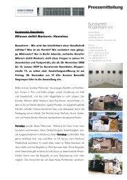 Den Pressetext lesen - Kunstverein Rosenheim