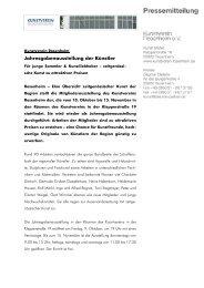 Den gesamten Pressetext lesen - Kunstverein Rosenheim