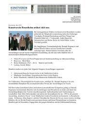 Pressemitteilung lesen - Kunstverein Rosenheim