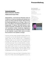 Martin Fritzsche: daneben - Kunstverein Rosenheim