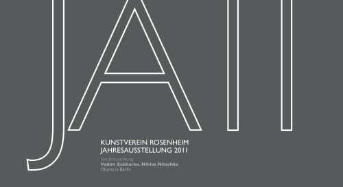 Einladungsflyer - Kunstverein Rosenheim