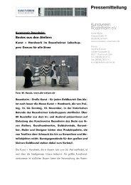 Pressetext mit Programmübersicht - Kunstverein Rosenheim