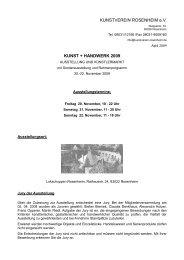 KUNSTVEREIN ROSENHEIM e.V. KUNST + HANDWERK 2009