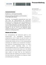 Pressetext zur Ausstellung lesen - Kunstverein Rosenheim