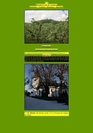 Rheinbach und die Tomburg - Kunstwanderungen