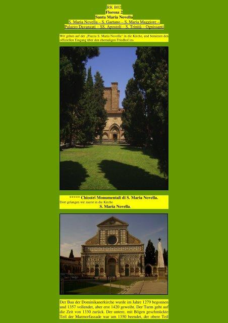 Florenz II - Kunstwanderungen