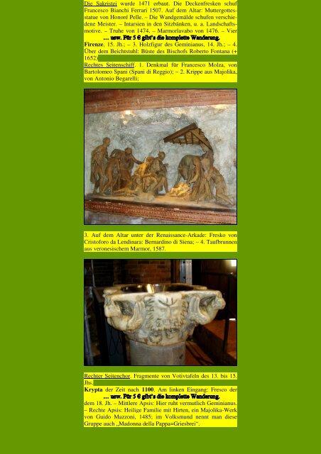 Modena - Kunstwanderungen