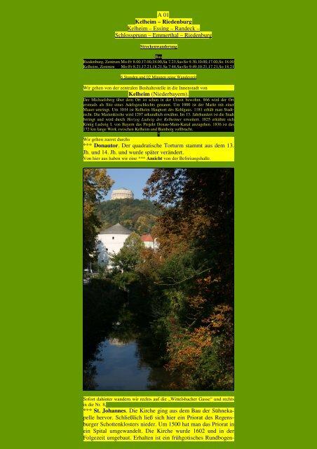Kelheim – Riedenburg - Kunstwanderungen