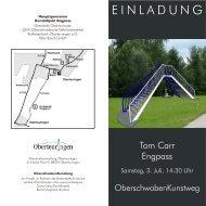 Download Einladungskarte - Oberschwaben Kunstweg
