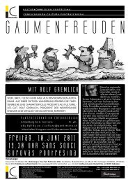 Flyer Gaumenfreuden deutsch romanisch PDF 862KB - Kunstwege