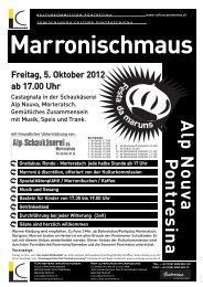 download Flyer Festa da maruns / Marronischmaus ... - Kunstwege