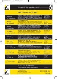 Jahresprogramm 5 2008 deutsch und romanisch PDF ... - Kunstwege