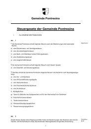 Steuergesetz der Gemeinde Pontresina - Kunstwege