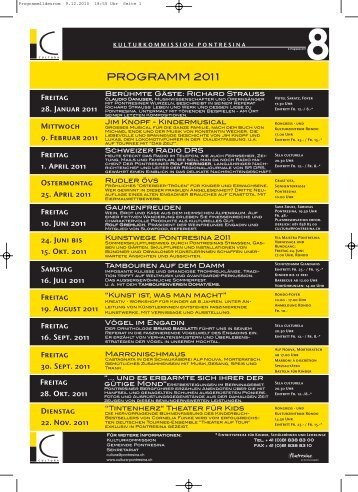 Jahresprogramm 8 2011 deutsch und romanisch PDF ... - Kunstwege