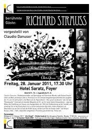 Freitag, 28. Januar 2011, 17.30 Uhr Hotel Saratz ... - Pitschna Scena